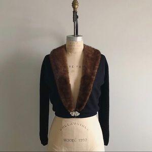 Vintage 1940's City Fur Co. Cashmere Fur Sweater